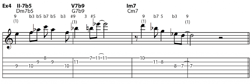 minor II-V-I with 9ths