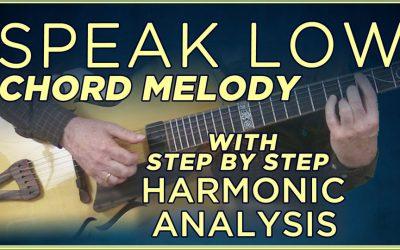 """Speak Low"" Chord Melody"
